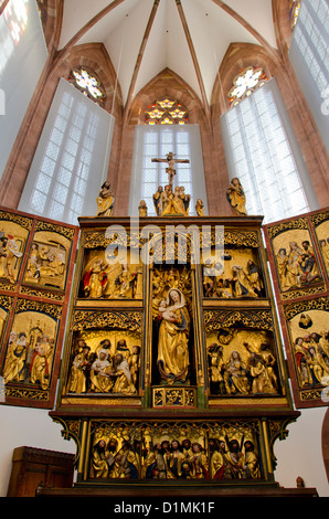 Switzerland, Basel. Barfusserkirche Historical Museum, located inside the historic Barfusser Church. - Stock Photo