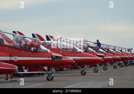 Royal Air Force Aerobatic Team - The Red Arrows - Stock Photo