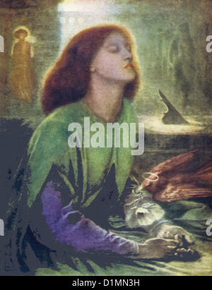This painting by Rossetti, titled Beata Beatrix, was painted in 1863 for Lord Mount Temple and is housed in the - Stock Photo
