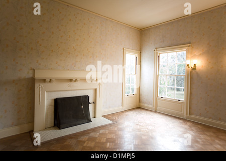 Bedroom in Plum Orchard Mansion on Cumberland Island National Seashore - Stock Photo