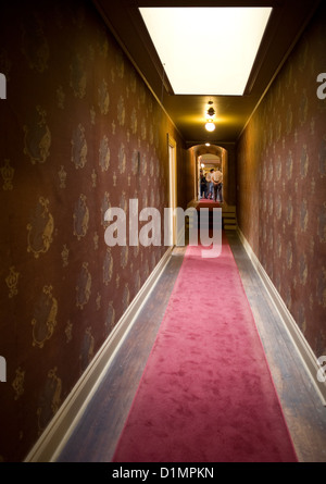 Hallway in Plum Orchard Mansion on Cumberland Island National Seashore - Stock Photo