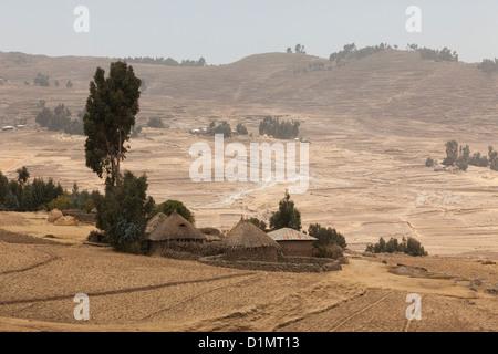 Roadside scene in Debre Markos, Ethiopia. - Stock Photo
