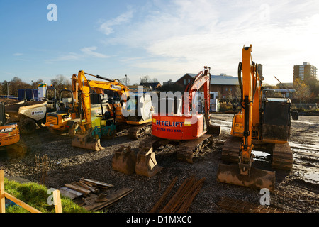 Plant and machinery on a building site - Stock Photo
