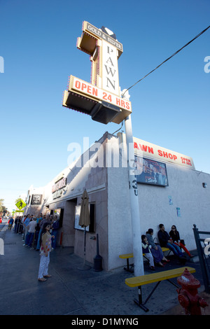 famous gold and silver pawn shop downtown Las Vegas home to the tv series pawn stars Nevada USA - Stock Photo