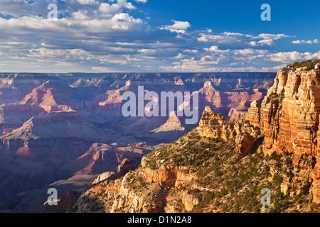 South Kaibab Trailhead overlook South Rim Grand Canyon National Park  Arizona United States of America USA - Stock Photo