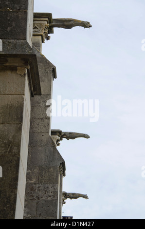 Gargoyles of the Sainte-Marie Cathedral in Bayonne - Stock Photo
