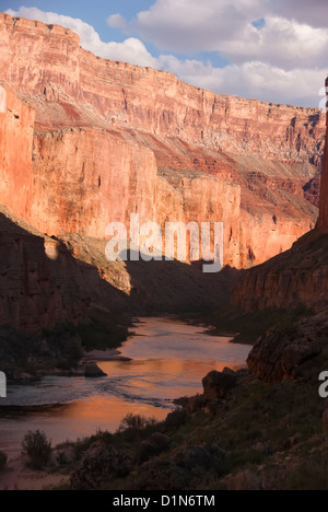 The Colorado River flowing through the Grand Canyon, Arizona. - Stock Photo