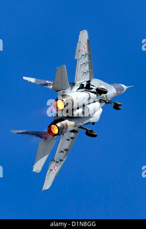 A Mikoyan Gurevich MiG- 29A Fulcrum red 111 of 1.elt Polish Air Force - Stock Photo