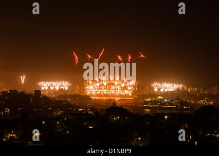 Sydney 2012-2013 NYE Fireworks - Stock Photo