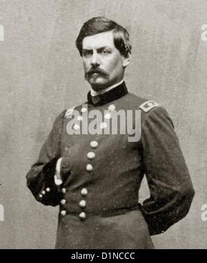 Antietam National Battlefield Maryland Union Soldiers  Maj. Gen. George B. McClellan - Stock Photo