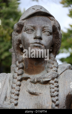 Old Socialist Realism Statues in Tirana from the Communist Era - Stock Photo