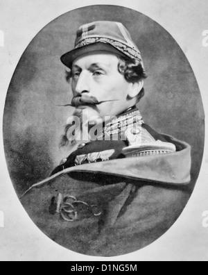 Napoleon III, head-and-shoulders portrait, facing left, circa 1865 - Stock Photo