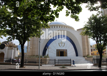 Newly Constructed Orthodox Cathedral of the Resurrection of Christ in Tirana - Stock Photo