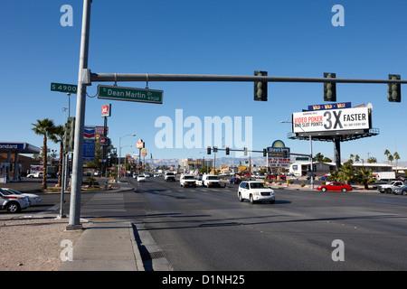 start of sr 593 at dean martin drive and tropicana avenue junction Las Vegas Nevada USA - Stock Photo