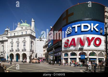 London, United Kingdom, Picadilly Circus - Stock Photo