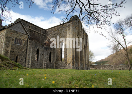 The ruins of Valle Crucis Abbey founded in the 13th century in Llangollen Wales - Stock Photo