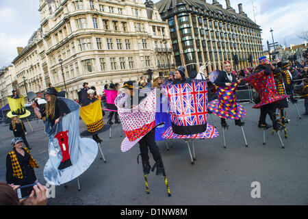 London, UK, 1st of January, 2013. The 2013 London New Year's Day Parade. - Stock Photo