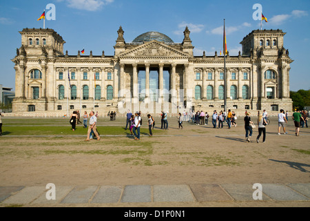 The Reichstag ( Bundestag ) Building in Berlin, Germany - Stock Photo