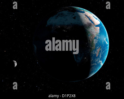 Artwork of Africa seen from Space - Stock Photo