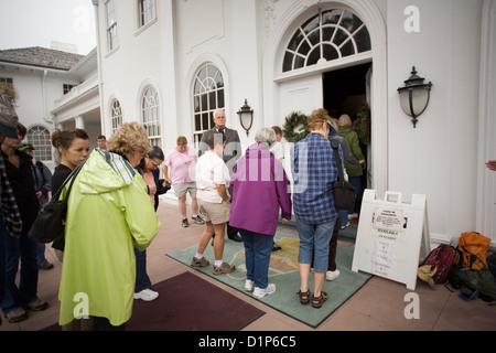 Tour of  Plum Orchard Mansion on Cumberland Island National Seashore - Stock Photo