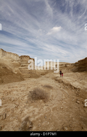 Marl stone formations. Eroded cliffs made of marl. - Stock Photo