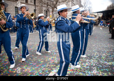 The Pride of San Luis Marching Band at London's New Year's Day Parade 2013, on Tuesday 1st January,  Westminster, - Stock Photo