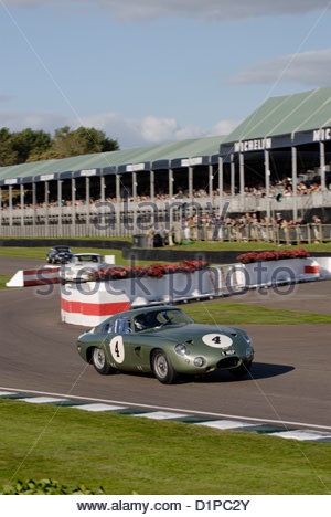 Aston Martin DB4 GT at the Goodwood Revival Meeting 2012 in the RAC TT Celebration race - Stock Photo