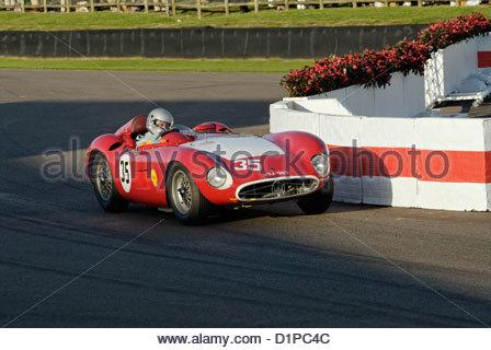 Maserati race car at the Goodwood Revival Meeting 2012 - Stock Photo