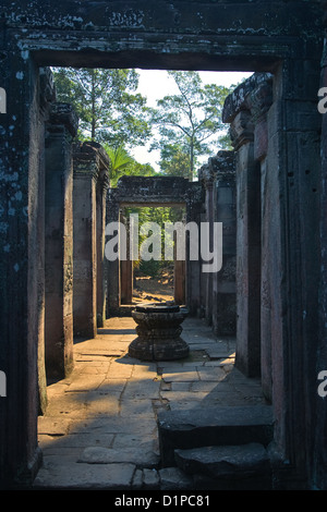 Passageway at Bayon Temple, Cambodia - Stock Photo