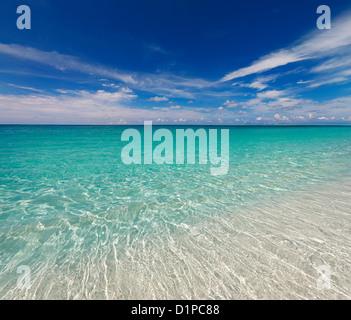 Cristal clear sea water - Stock Photo