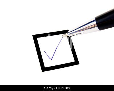 check box pen - Stock Photo