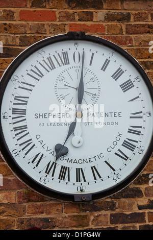 The Shepherd Gate 24 hour Clock Royal Observatory Greenwich London UK - Stock Photo
