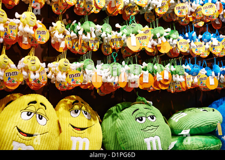 Interior of the M&M store Leicester Square London UK - Stock Photo