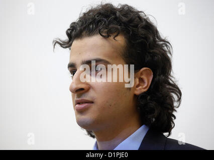 Maikel Nabil Sanad, an Egyptian blogger and activist who leads the No Compulsory Military Service Movement, having - Stock Photo