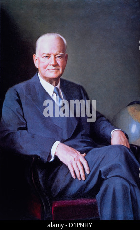 Herbert Hoover (1874-1964), 31st President of the United States of America, Official White House Portrait, 1929 - Stock Photo