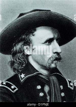 George Custer (1839-1876), American Army Officer, Killed at Battle of Little Big Horn, Illustration, Portrait, Circa - Stock Photo
