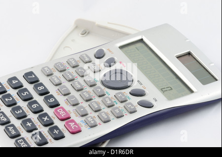Isolated calculator on white background. - Stock Photo