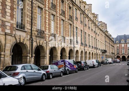 Place des Vosges, oldest planned square in Paris France Europe