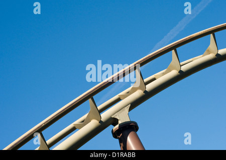Close up of a rollercoaster track - Stock Photo