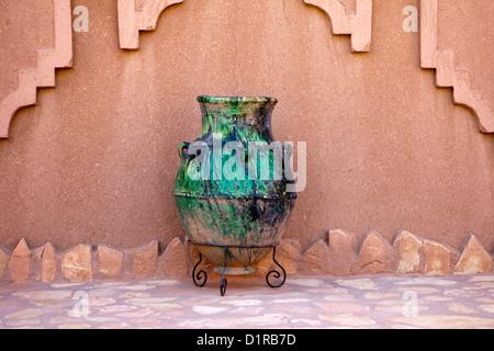 Morocco, M'Hamid el Ghizlane, Hotel Azalay. - Stock Photo