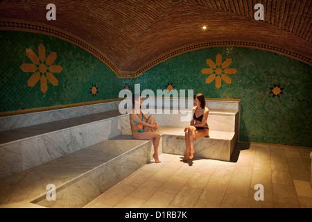 Morocco, M'Hamid el Ghizlane, Hotel Azalay. Hammam. Women. - Stock Photo