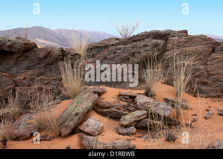 Rocky landscape in the Hartman Mountains, Norther Namibia - Stock Photo