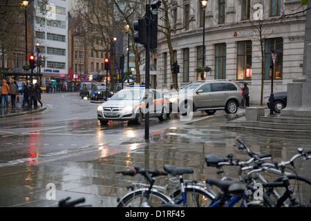 charing cross road london, in december - Stock Photo