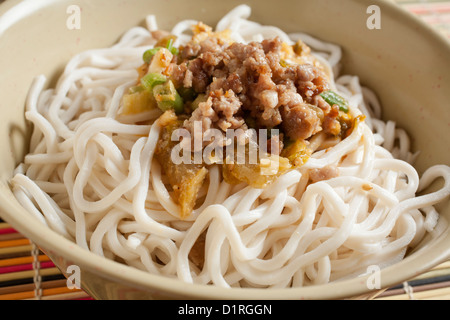 Dan Dan Noodles, the Sichuan classic - Stock Photo