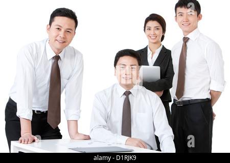 Portrait of a confident business team - Stock Photo