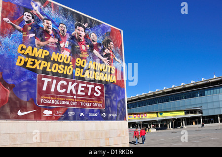 Barcelona, Catalonia, Spain. Camp Nou football stadium (1957) home of F C Barcelona - Stock Photo