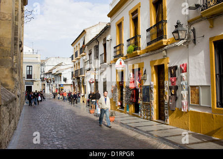 Cardenal Gonzales street in the Old Town of Cordoba city in Spain, Andalusia region. - Stock Photo