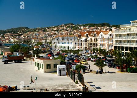 Argostoli town, capital of Kefalonia, Ionian Islands, Greece. - Stock Photo