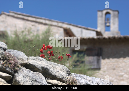 Abbaye Saint Hillaire Lacoste Provence, France - Stock Photo
