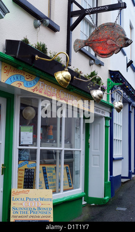 A Fish & Chip Shop, Appledore, Devon, UK - Stock Photo